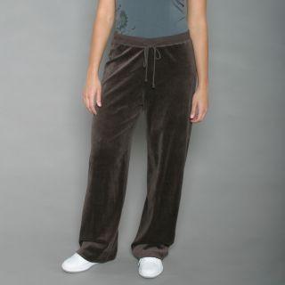 Ellen Tracy Womens Espresso Velour Track Pants