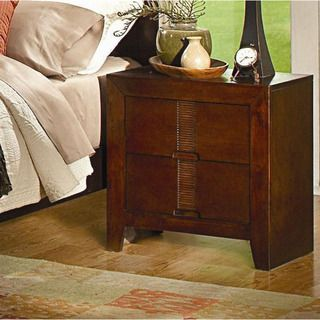 Escada Leon Warm Brown Two drawer Nightstand