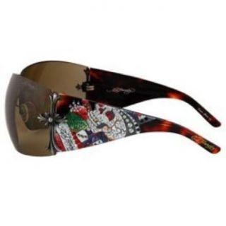 Ed Hardy Brad Original Sunglasses Swarovski Crystals
