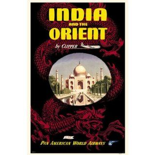 India and the Orient, Pan American World Airways Poster