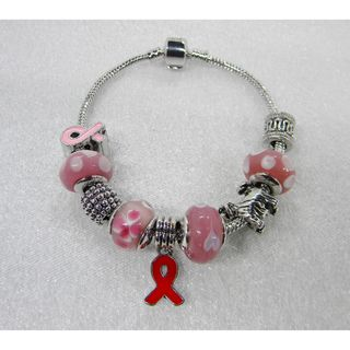 Cancer Awarness Charm Bracelet
