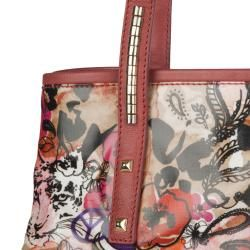 Jimmy Choo Scarlet Rose Pink Leather Tote Bag