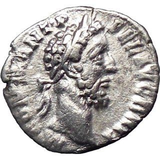 Commodus Nude gladiator 177AD Silver Ancient Roman Coin