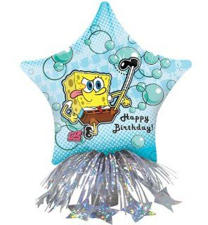 SpongeBob Birthday Star Balloon Centerpiece (Blue) Party