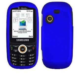 Premium Blue Rubberized Snap On Cover Hard Case Cell Phone