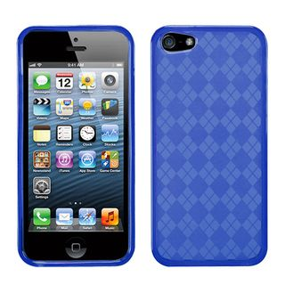 BasAcc Blue Checker TPU Rubber Skin Case for Apple® iPhone 5