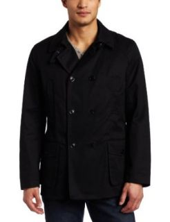Ben Sherman Mens Military Peacoat With Removable Lining