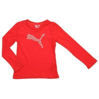 PUMA Tee shirt Fille Rouge, blanc et or   Achat / Vente T SHIRT PUMA