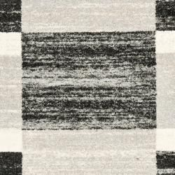 Deco Inspired Black/ Light Grey Rug (8 x 10)