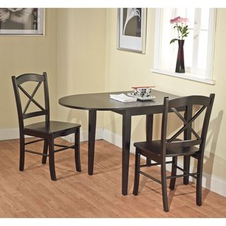 Country Cottage Black Drop Leaf Dining Table