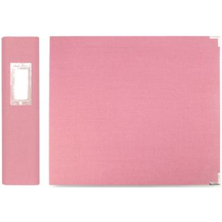 We R Memory Keepers Bubble Gum Linen 3 Ring Binder
