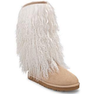 UGG Australia Womens Tall Sheepskin Cuff Boot Casual Shoes Shoes