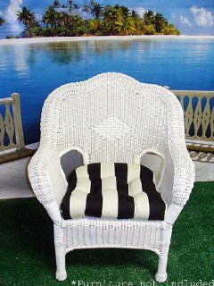 Wicker Furniture Outdoor Patio Chair Cushion   Black