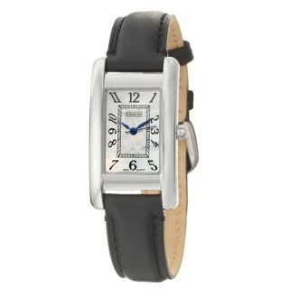 Coach Lexington Womens White Mother of Pearl Dial Leather Watch