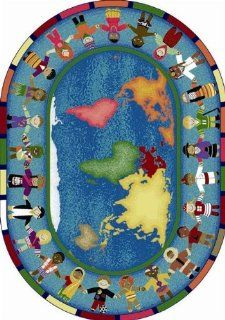 Joy Carpets Hands Around the World Kids Area Rug Size   5