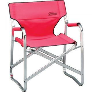 Coleman Portable Red Deck Chair