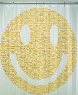 Ore Originals Living Goods Shower Curtain Happy Face Home