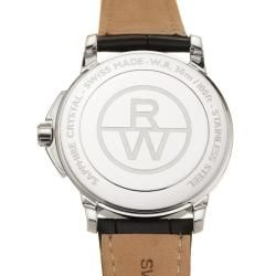 Raymond Weil Mens Tradition Stainless Steel and Leather Quartz