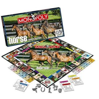 Horse Lovers Collectors Edition Monopoly Game