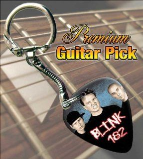 Blink 182 Band Photo Premium Guitar Pick Keyring Musical