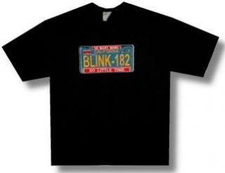 BLINK 182   So Little Time / License Plate   Black T shirt
