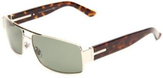 086Q Light Gold Dark Havana (RC Green Polarized Lens)   60mm Shoes