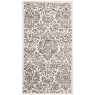 Porcello Damask Ivory/ Grey Rug (27 x 5)