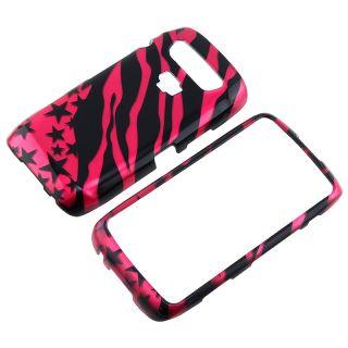 Hot Pink Zebra Star Case for Blackberry Torch 9850/ 9860