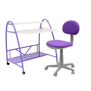 Studio Designs Purple 2 Piece Arc Center Childrens Desk
