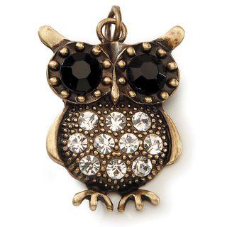 Styled by Tori Spelling (TM) Owl Pendant  Bronze W/Rhinestones 1/Pkg