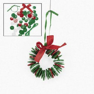 Button Wreath Ornament Craft Kit   Crafts