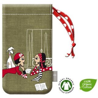 HOUSSE COQUE TELEPHONE Etui En Coton Bio Zazazou Kaki  Apple iPhone