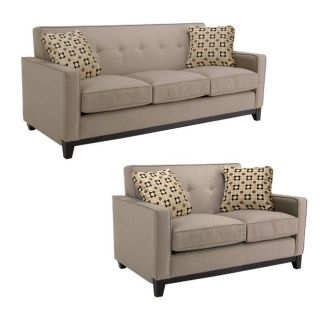 Jazz Pewter Fabric Sofa and Loveseat