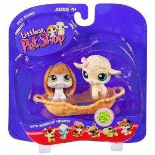 : Lamb & Bunny Pet Pairs   Littlest Pet Shop #185 #186: Toys & Games