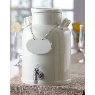 American Atelier 240 oz White Ceramic Beverage Dispenser