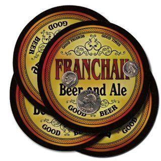 Franchak Family Name Brand Beer & Ale Drink Coasters   Set
