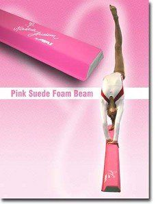 9 foot Nastia Liukin Pink Suede Foam Balance Beam American