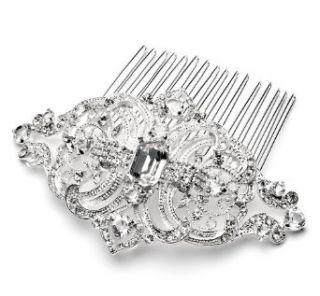 Bridal Wedding Comb,Silver with Rhinestone 186 Clothing