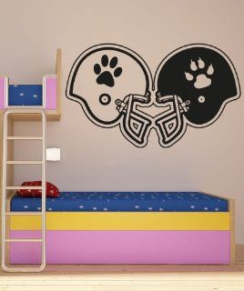 Vinyl Wall Decal Sticker Rival Football Helmets #OS_AA191B