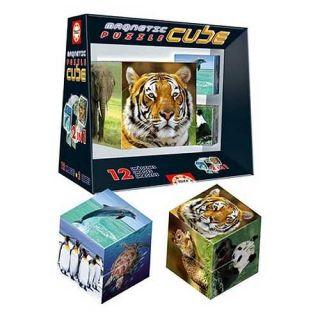 Magnetic Wildlife Puzzle Cube