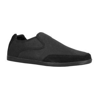 Lugz Mens Juve Black Canvas/ Suede Slip on Shoes