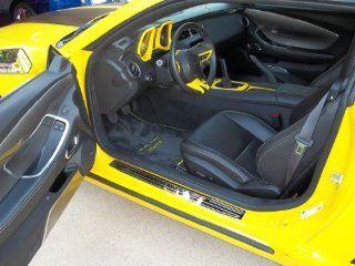 Chevrolet Camaro SS Floor Mats Dual Rally Yellow Logos with Yellow