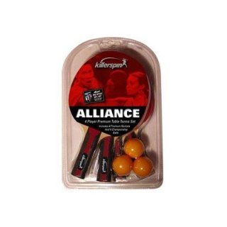 Killerspin Alliance 4 pack Table Tennis Racket Set Sports