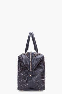 Yves Saint Laurent Black Studded Easy Rock Duffle Bag for women