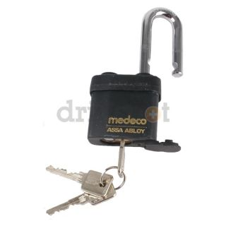 Medeco 54T71F0006XX Padlock.High Security, Keyed Different