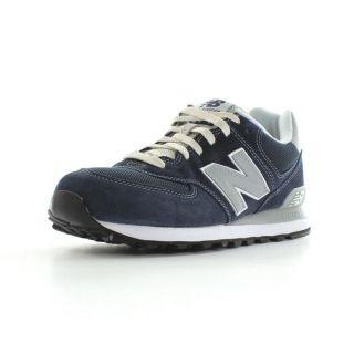 New Balance   ML574 Bleu, blanc, gris et argent   Achat / Vente BASKET
