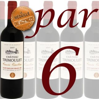 Carton 6 Ch. Trimoulet Saint Emilion Gd Cru 2007   Achat / Vente VIN