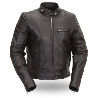 FMC Womens Black Motorcycle Jacket