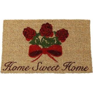 Home Sweet Home Hand woven Coir Doormat (18 x 30)