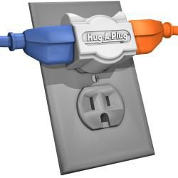 Hug a plug Dual Outlet 125v Adapter Plug (Pack of 4)
